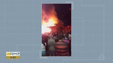 Incêndio atinge casas no bairro Educandos, Zona Sul de Manaus - É o segundo incêndio no bairro em 3 meses.