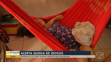 Problema de visão é grande causa de ocorrências de quedas de idosos - Levantamento feito pelo Ministério da Saúde constatou que 3 em cada 10 brasileiros com mais de 60 anos sofrem pelo menos uma queda por ano.