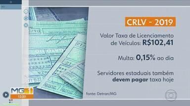 Fim do prazo para pagamento da taxa de licenciamento de veículos em MG - O pagamento é um dos pré-requisitos para que o Detran possa emitir o certificado de registro e licenciamento (CRLV).