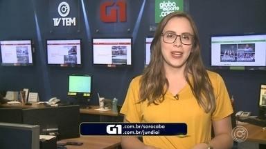 Carol Andrade traz os destaques do G1 Sorocaba e Jundiaí nesta segunda-feira - A repórter Carol Andrade traz os destaques do G1 Sorocaba e Jundiaí nesta segunda-feira (1º).