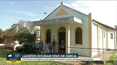 Bandidos levam sino de uma igreja em São José do Rio Preto - Sino de bronze pesa 50 quilos. A polícia ainda não tem pista dos ladrões.
