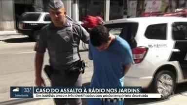 Um bandido que participou de assalto a rádio é preso - Jefferson Batista dos Santos, de 25 anos, confirmou o crime e passou informações sobre os outros suspeitos.