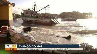 Projeto para conter a erosão é apresentado em São João da Barra, no RJ - Assista a seguir.
