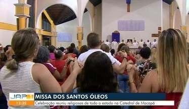 Ontem na catedral de Macapá foi dia de celebrar a missa dos Santos Óleos - Celebração reuniu religiosos de todo o estado.