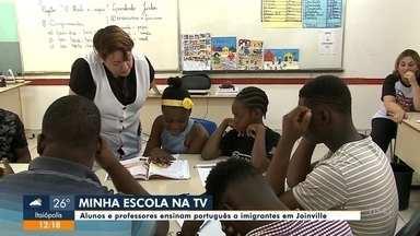 Minha Escola na TV: projeto que ensina português para imigrantes - Minha Escola na TV: projeto que ensina português para imigrantes