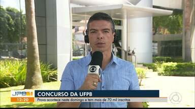 Mais de 70 mil inscritos no concurso da Universidade Federal da Paraíba - Prova será realizada neste domingo.