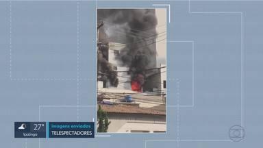 Explosão em apartamento deixa jovem ferido no bairro Cidade Nova, na Região Nordeste de BH - Ele foi encaminhado para o hospital com queimaduras.