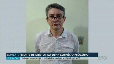 Testemunhas e Laurindo Panucci Filho foram ouvidos pela Justiça nesta sexta-feira (05) - Laurindo Panucci Filho é acusado de matar um dos diretores da UENP. Na noite de quinta-feira (04). alunos e professores fizeram uma homenagem e um monumento pela paz foi instalado na universidade.