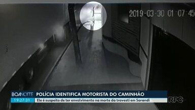 Motorista de caminhão suspeito de ter participado da morte de travesti é identificado - Imagens de câmera de segurança mostram o momento em que a travesti se aproxima de caminhão