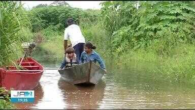 Alagamentos após chuvas fortes deixa famílias desabrigadas no norte do Tocantins - Alagamentos após chuvas fortes deixa famílias desabrigadas no norte do Tocantins