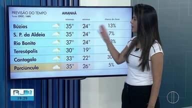 Confira a previsão do tempo para este sábado (6) no interior do Rio - Assista a seguir.