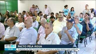 Produtores de Atílio Vivacqua são os primeiros a receberem dinheiro para preservar água - Intenção é que outros 17 municípios da Bacia do Rio Itapemirim sigam o exemplo.