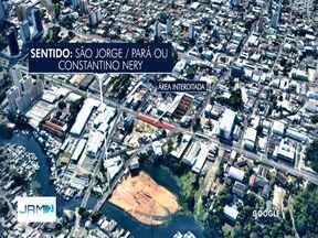 Obras de passagens subterrâneas alteram trânsito na Avenida Constantino Nery, em Manaus - Confira como fica trânsito no local. Linhas de ônibus também vão passar por alterações a partir de terça-feira (9).