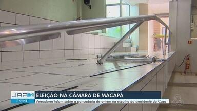 Vereadores e servidores poderão responder por briga generalizada na Câmara de Macapá - Imagens de segurança serão analisadas. Plenário teve estrutura danificada e vandalizada.