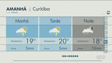 Frente fria muda o tempo no Paraná no final de semana - Temperatura cai e tempo segue instável até a metade da semana.