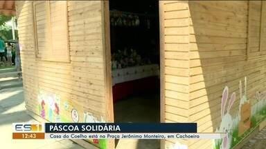 Casa do Coelho está na Praça Jerônimo Monteiro, em Cachoeiro de Itapemirim, ES - Época é de Páscoa solidária na região.