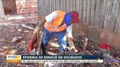 Combate à dengue tem reforço em Dourados - Enfrentando epidemia, segunda maior cidade de MS recebe mais agentes de endemias e até fumacê de madrugada.
