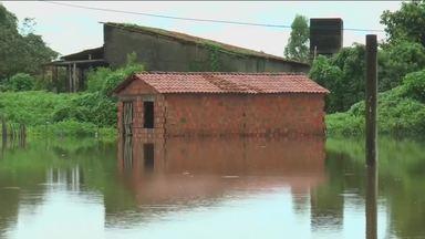 Em Granja, nível do rio Coreaú sobe e alaga parte da cidade - Confira mais notícias em g1.com.br/ce
