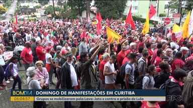 O domingo foi de manifestações em Curitiba - Grupos se mobilizaram pela Lava-Jato e contra a prisão de Lula