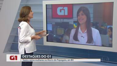 G1 no MG1: Coletivo 'Teatro Entre Elas' reúne mulheres no Morro do Papagaio - Palco virou espaço onde elas narram a própria história.