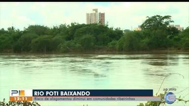 Nível do Rio Poti baixa e diminui alagamentos - Nível do Rio Poti baixa e diminui alagamentos