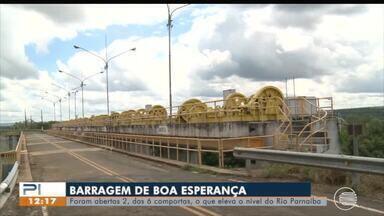 Comportas de barragem são abertas mas Rio Parnaíba não deve ultrapassar cota de inundação - Comportas de barragem são abertas mas Rio Parnaíba não deve ultrapassar cota de inundação