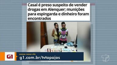 Prisão de casal suspeito de vender drogas em Alenquer é destaque no G1 Santarém e região - Veja essa e outras notícias pelo tablet, computador e celular.