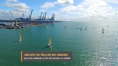 Regata reúne velejadores do RS em Rio Grande - Prova foi realizada no domingo, no canal de navegação do porto. Cerca de 50 velejadores do estado participaram.