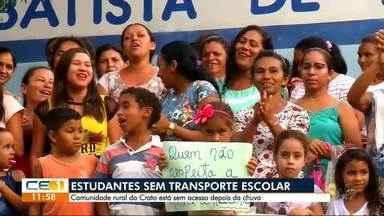 Estudantes da zona rural do Crato estão sem transporte escolar - Confira outras notícias no g1.com.br/ce