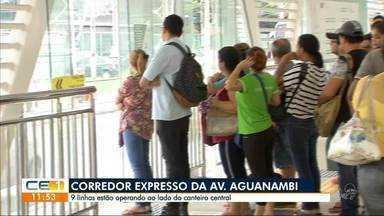 Av. Aguanambi passa a ter 9 linhas de ônibus passando pelo corredor expresso - Confira outras notícias no g1.com.br/ce