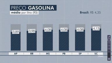 Preço da gasolina em SC está entre os menores do país, diz relatório; motoristas protestam - Preço da gasolina em SC está entre os menores do país, diz relatório; Concórdia tem a gasolina mais cara do estado, e motoristas protestam