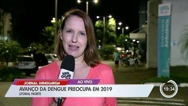 Casos de dengue avançam no litoral norte - São 159 casos positivos e três mortes em Caraguá.