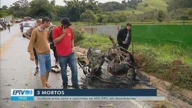 Polícia identifica vítimas de acidente da MG-290; mortos eram parentes de vereador - Polícia identifica vítimas de acidente da MG-290; mortos eram parentes de vereador