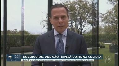 Governo de São Paulo diz que não haverá corte na cultura - João Doria afirma que programas, espaços e equipamentos serão mantidos.