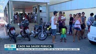 UPA da Serra fica lotado e pacientes enfrentam longa espera - Teve até discussão entre pacientes e vigilantes.