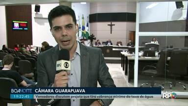 Projeto que proíbe a cobrança da taxa mínima de água é discutido na Câmara de Guarapuava - Os vereadores querem que os moradores paguem só pelo que consumirem.