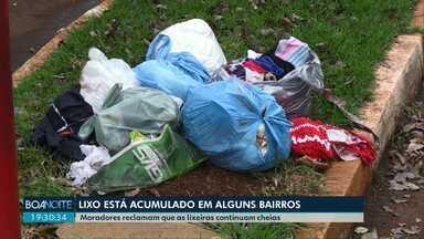 Morador de Toledo reclama da falta de coleta de lixo na cidade - Lixo está acumulado em alguns bairros da cidade.
