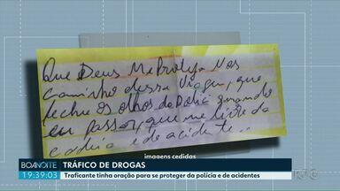 Traficante é preso com bilhete que pedia a proteção divina - No carro, a polícia encontrou mais de 300 quilos de maconha.