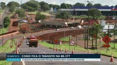 Desvio da BR-277 deve ser ativado amanhã - Durante quatro meses a rodovia deve ficar interditada para as obras do Viaduto.