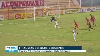 Cuiabá e Operário-VG vão disputar o título do Mato-grossense de Futebol - Cuiabá e Operário-VG vão disputar o título do Mato-grossense de Futebol.