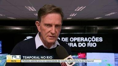 Crivella admite que a prefeitura falhou no planejamento e demorou a agir no temporal - Prefeito do Rio Marcelo Crivella admitiu que a prefeitura falhou no planejamento e demorou a agir no temporal