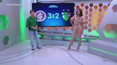 Diogo Olivier comenta a vantagem conquistada pelo Inter na Libertadores - Inter é o primeiro time a se classificar, garantindo a liderança no seu grupo.