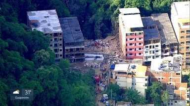 Polícia abre inquérito para investigar responsáveis por desabamento na Muzema - Ainda não se sabe quem construiu os dois prédios que desabaram.