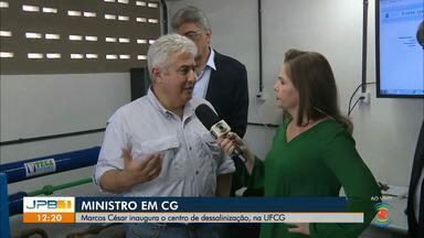 Ministro Marcos Pontes inaugura o Centro de Dessalinização na UFCG - O Centro tem como objetivo testar, analisar e avaliar o desempenho de sistemas comercializáveis de dessalinização e purificação de águas salobras e salinas