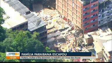 Tragédia no Rio: um paraibano morreu e três paraibanas estão desaparecidas - Dois prédios desabaram na última sexta-feira de manhã, na Zona Oeste do Rio.
