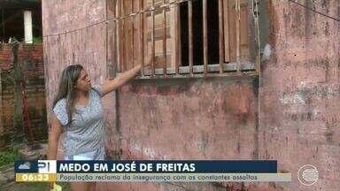 População de José de Freitas reclama da falta de segurança e constantes assaltos - População de José de Freitas reclama da falta de segurança e constantes assaltos