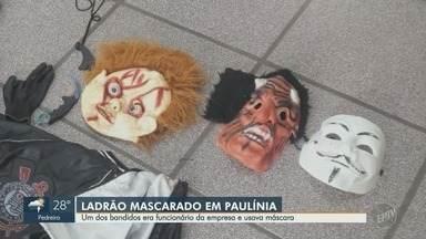 Ladrões mascarados assaltam empresa de transporte em Paulínia - Um dos criminosos era funcionário da empresa.