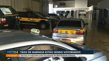 Táxis de Maringá são vistoriados - Serviço é realizado pela Semob.