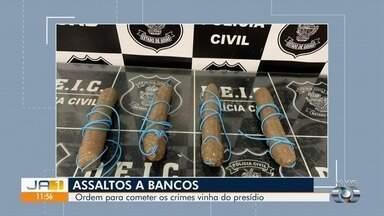 Polícia prende trio e apreende explosivos, em Goiânia - Segundo a polícia, ordem para os crimes partiam de dentro do presídio.