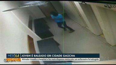 Atirador invade hospital em Cidade Gaúcha e faz 20 disparos - Um jovem e um enfermeiro foram baleados.
